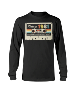 Vintage 1981, 40th Years Of Being Awesome, Birthday Gifts Ideas, Gift For Her For Him Unisex Long Sleeve - Spreadstores