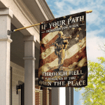 Walk As If You Own The Place House Flag - Spreadstores
