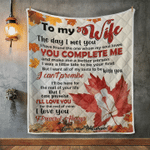 Wife Blanket, Gifts For Her, To My Wife, The Day I Met You I Found The One V2 Quilt Blanket - Spreadstores