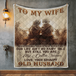 Wife Blanket, Gifts For Her, To My Wife, Our Home Ain't No Castle V2 Quilt Blanket - Spreadstores