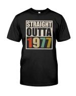 Vintage 1977 Shirt, 1977 Birthday Shirt, Straight Outta 1977 Unisex T-Shirt KM0405 - Spreadstores