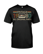 Vintage 1980, All Original Parts 2, 41st Birthday Gifts For Him For Her, Birthday Unisex T-Shirt - Spreadstores