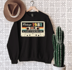 Vintage 1981, 40th Years Of Being Awesome, Birthday Gifts Idea, Gift For Her For Him Unisex Sweatshirt - Spreadstores