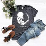 Virgo Shirt, Zodiac Sign Shirt, Virgo Birthday Gift, Birthday Gift For Her V4 Unisex T-Shirt - Spreadstores