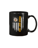 Vintage USA Proud US Navy Dad American Flag Patriotic Gift Mug - Spreadstores