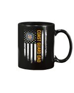 Vintage USA Proud Coast Guard Dad American Flag Patriotic Mug - Spreadstores
