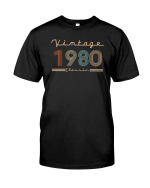Vintage 1980 Classic, 41st Birthday Gifts For Him For Her, Birthday Unisex T-Shirt KM0704 - Spreadstores