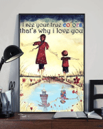 Vintage Mom And Baby Autism Awareness I See Your True Colors That's Why I Love You Matte Canvas - Spreadstores