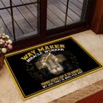 Welcome Rug, Veteran Doormat, Way Maker Miracle Worker Promise Keeper Light In The Darkness My God Doormat - Spreadstores