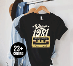 Vintage 1981, All Original Parts, 40th Birthday Gifts Idea, Gift For Her For Him Unisex T-Shirt KM0804 - Spreadstores