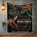 Wife Blanket, Gifts For Her, To My Wife, I Choose You And I'll Always Choose You Quilt Blanket - Spreadstores