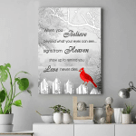 When You Believe Beyond What Your Eyes Can See Cardinal Bird Matte Canvas - Spreadstores