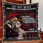 Wife Quilt, Gifts For Her, To My Wife, I'll Forever Yours And Only Yours Quilt Blanket - Spreadstores