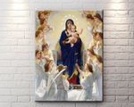 Virgin Mary Framed Canvas, Christ Jesus In Paradise Wall Art, Jesus Mother, Catholic Gifts - Spreadstores