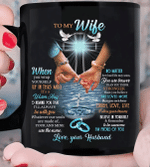 Wife Mug, Easter Gift Ideas For Wife, To My Wife When You Wrap Yourself Christian Cross Mug - Spreadstores