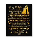 Wife Canvas To My Wife No Matter What Happens No Matter Where We Are Matte Canvas - Spreadstores