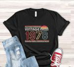 Vintage 1978 Birthday Gift Shirt V3, 43rd Birthday Vintage Shirt, Gift For Her For Him Unisex T-Shirt KM0904 - Spreadstores