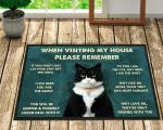Welcome Mat, When Visiting My House Doormat, Black Cat Doormat, Gift For Cat Lover, Cat Doormat, Home Decor - Spreadstores