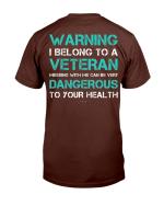 Warning I Belong To A Veteran - Funny Veteran Gift T-Shirt - Spreadstores