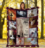 We Can't Always Choose The Music Life Plays For Us, Ballet Fleece Blanket - Spreadstores