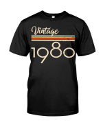 Vintage 1980, 41st Birthday Gifts For Him For Her, Birthday Unisex T-Shirt KM0704 - Spreadstores