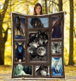 Wolf Full Moon Wild Animals For Wolf Lover Fleece Blanket - Spreadstores