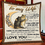 Wife Blanket, To My Wife Blanket, Gifts For Her, I Love You To The Moon And Back Quilt Blanket - Spreadstores