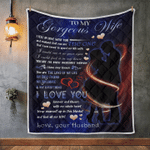 Wife Blanket, Gifts For Her, To My Gorgeous Wife, I Fell In Love With You Quilt Blanket - Spreadstores