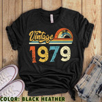 Vintage 1979 V2 Birthday Gift, Original Parts, Birthday Gifts For Him For Her Unisex T-Shirt KM0704 - Spreadstores