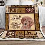 When It's Too Hard To Look Back And You're Too Afraid Labradoodle Sherpa Blanket - Spreadstores
