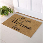 Welcome Rug, All Are Welcome Here Doormat, Housewarming Gift, Indoor Furniture, Home Decor - Spreadstores
