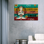 Yoga Girl I'm Mostly Peace Love And Light And A Little Go Matte Canvas - Spreadstores