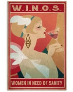W.I.N.O.S Women In Need Of Sanity Matte Canvas - Spreadstores