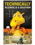 Wine Canvas Technically Alcohol Is A Solution Matte Canvas - Spreadstores