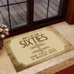 Welcome Rug, Veteran Doormat, Gift For Veterans, Built-In The Sixties Original And Unrestored Doormat - Spreadstores