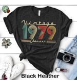 Vintage 1979, Limited Edition, Birthday Gifts Idea, Gift For Her For Him Unisex T-Shirt KM0704 - Spreadstores