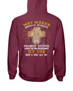 Way Maker Miracle Worker Promise Keeper Light In The Darkness My God Veteran Hoodie, Veteran Sweatshirts - Spreadstores