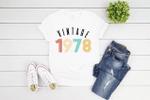 Vintage 1978 Birthday Gift Shirt V6, 43rd Birthday Vintage Shirt, Gift For Her For Him Unisex T-Shirt KM0904 - Spreadstores