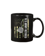 Vintage Camo Us Army Retired American Flag Gift Veteran Day Mug - Spreadstores