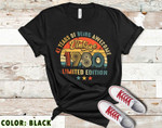 Vintage 1980 Birthday Unisex T-Shirt, 41st Birthday Gifts Idea, Gift For Him For Her Unisex T-Shirt - Spreadstores