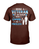 Veterans Shirt Being A Veteran Is An Honor Being A Gampy Is Priceless T-Shirt - Spreadstores