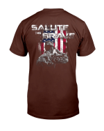 Veterans Shirt Salute The Brave T-Shirt - Spreadstores