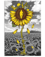 Veterans Sunflower Canvas Wall Art You Are My Sunshine Matte Canvas - Spreadstores
