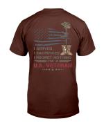 Veterans Shirt I Served I Sacrificed I Regret Nothing I'm A US Veteran T-Shirt - Spreadstores