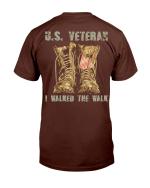 Veterans Shirt U.S. Veteran I Walked The Walk T-Shirt - Spreadstores