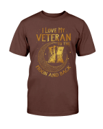 Veterans Shirt I Love My Veteran To The Moon And Back T-Shirt - Spreadstores