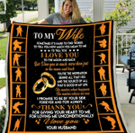 Veterans Blanket - To My Wife Sometimes It's Hard To Find Words To Tell You Fleece Blanket - Spreadstores
