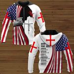 Veteran Zipped Hoodie, God Says You Are Strong Chosen American Flag Jesus All Over Printed Zipped Hoodie - Spreadstores