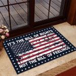 Veteran Welcome Rug, Veteran Doormat, It's The Bill Of Rights Not The Bill Of Feelings American Flag Doormat - Spreadstores