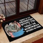 Veteran Welcome Rug, Veteran Doormat, Sorry If My Patriotism Offends You Trust Me Your Lack Of Spine Doormat - Spreadstores